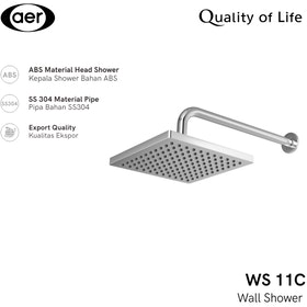 AER Shower Tembok Wall Shower WS-11C