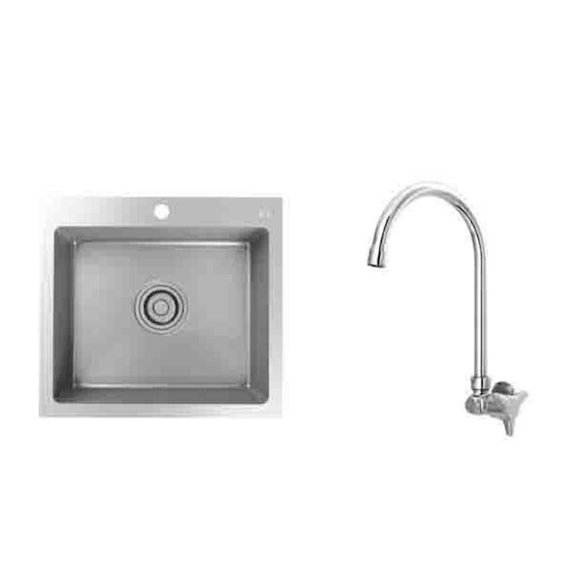 AER Paket Kitchen Sink KS1-02 dan Kran Dapur AOV 01B