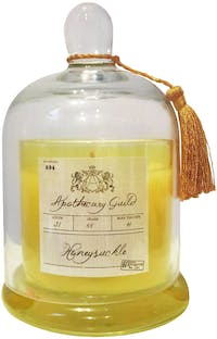 Apothecary Guild Zodax Scented Candle Jar With Glass Dome (Honey Suckle)