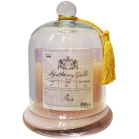 Apothecary Guild Zodax Scented Candle Jar With Glass Dome (Iris)
