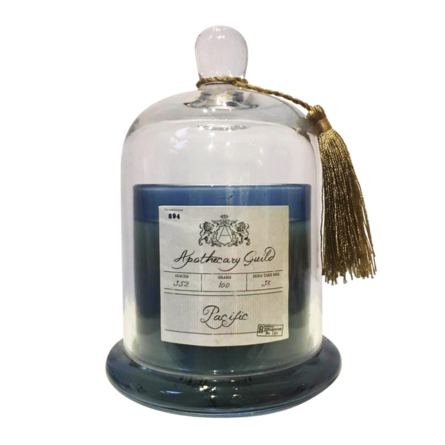 Apothecary Guild Zodax Scented Candle Jar With Glass Dome (Pacific)