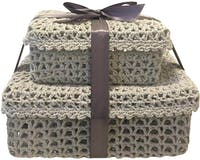 Athome Decor Lifestyle Basket Knitted Set Of 2