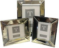 Two's Company Photo Frames Mirrored (Set of 3)