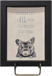 "Two's Company Friendship Framed Wall Art ""Friendship Isn't A Big Thing"""