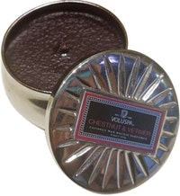 Voluspa Scented Candle Mini Tin (Chestnut Vertiver)