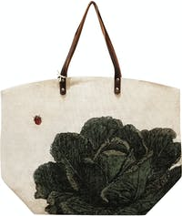 TWO'S COMPANY SHOPPING STRAW BAG LETTUCE