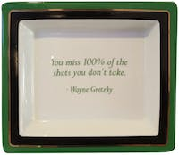 "TWO'S COMPANY Tray Quote ""You Miss"""