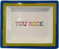 "TWO'S COMPANY Tray Quotes ""You Rock"""