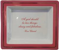 "TWO'S COMPANY Tray Quotes "" A girl Should"""