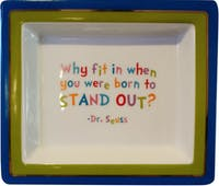 "TWO'S COMPANY Tray Quotes ""Why Fit in"""