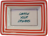 "TWO'S COMPANY Petite Wise Saying Trays ""Chase Your"""
