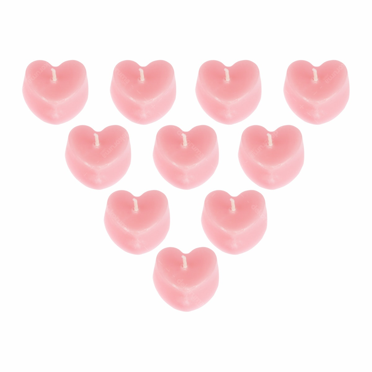 Ajindo Lilin Tealight Love Merah Muda (10pcs)