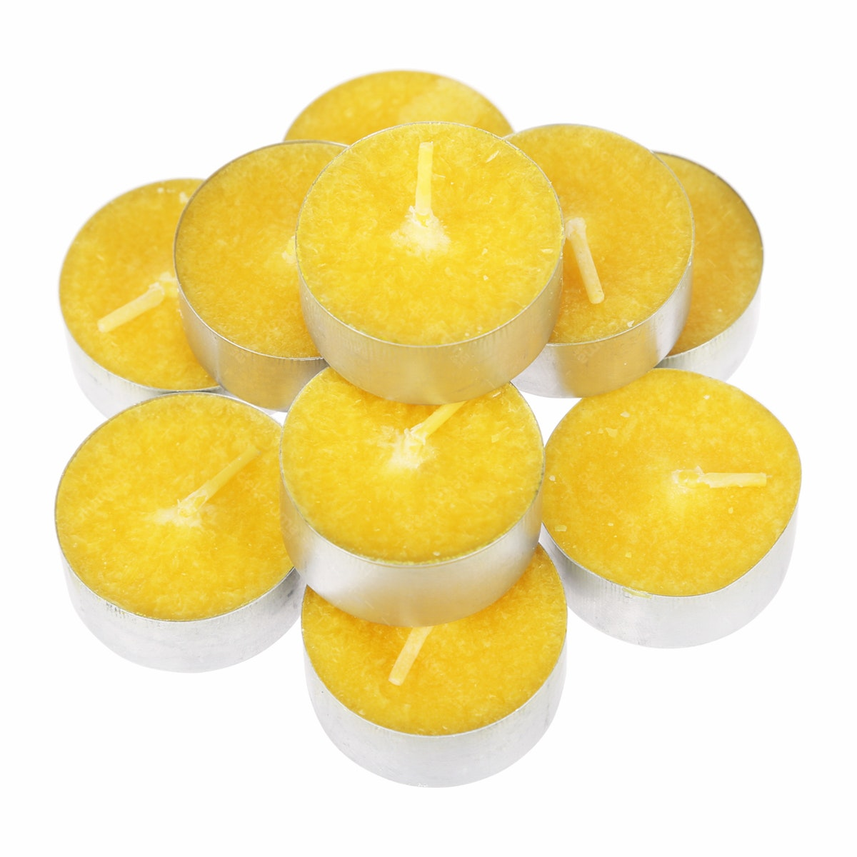 Ajindo Lilin Tealight Kuning (10pcs)