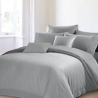 Akemi Set Sprei & Quilt Cover Set Autograph Leighton Lavelle Box Grey 160 x 200 cm
