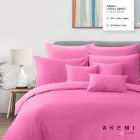 Akemi Set Sprei Cotton Select Colour Array Design Mid Fushia 160x200 CM