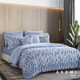 AKEMI Set Sprei dan Bed Cover Tencel Modal Serenity Design Rainey 160x200cm