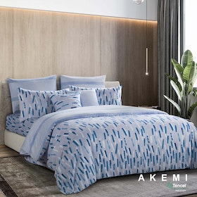 AKEMI Set Sprei dan Bed Cover Tencel Modal Serenity Design Rainey 200x200cm