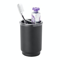 iDesign Austin Toothbrush Holder Matte Black/Smoke