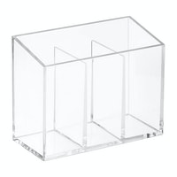 iDesign Clarity Bath Accessories (Set of 3) Clear/Chrome
