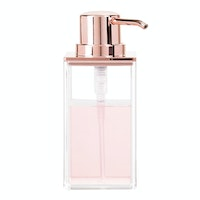 iDesign Clarity Soap Pump Clear/Rose Gold