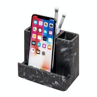 iDesign Dakota Vanity Center Black Marble/Matte Black