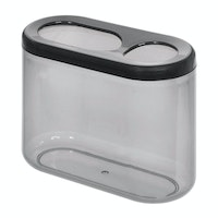 iDesign Finn Oval Toothbrush Holder Black/Smoke