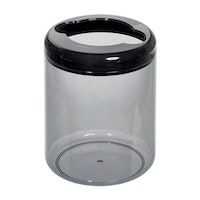 iDesign Finn Round Toothbrush Holder Black/Smoke