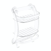 iDesign Power Lock Suction Shower Organizer Clear
