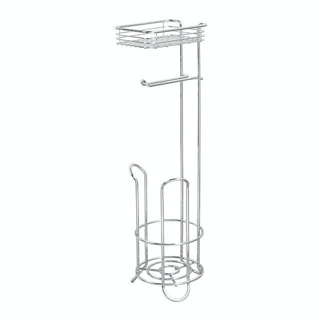 iDesign Classico Roll Stand Plus w/Shelf Chrome