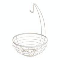 iDesign Austin Fruit Bowl w/ Hanger Matte Satin