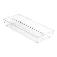 iDesign Linus Twin Drawer Organize 6 x 15 x 2 Clear