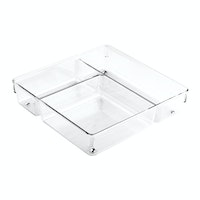 iDesign Linus Multi Drawer Organize 9 x 9 x 2 Clear