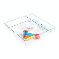 iDesign Linus Multi Drawer Organize 12 x 12 x 2 Clear