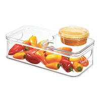 iDesign Crisp Bin with Sliding Tray Clear