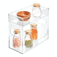 iDesign Linus Two Tier Spice Rack Clear