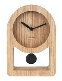 Karlsson Table Clock Lena Pendulum Wood Veneer  D,25