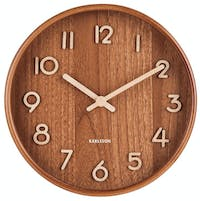 Karlsson Wall Clock Pure Small Light Basswood D. 22cm