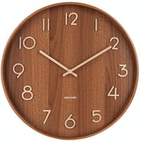 Karlsson Wall Clock Pure Large Dark Basswood D. 60cm