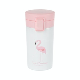 Aldora Vacuum Flask Flamingo Style / Stainless / Termos 320ml (A3)