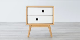 Alegre Nordic Night Table 2 Drawers White