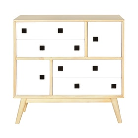 Alegre Nordic Commode 4 Drawers White