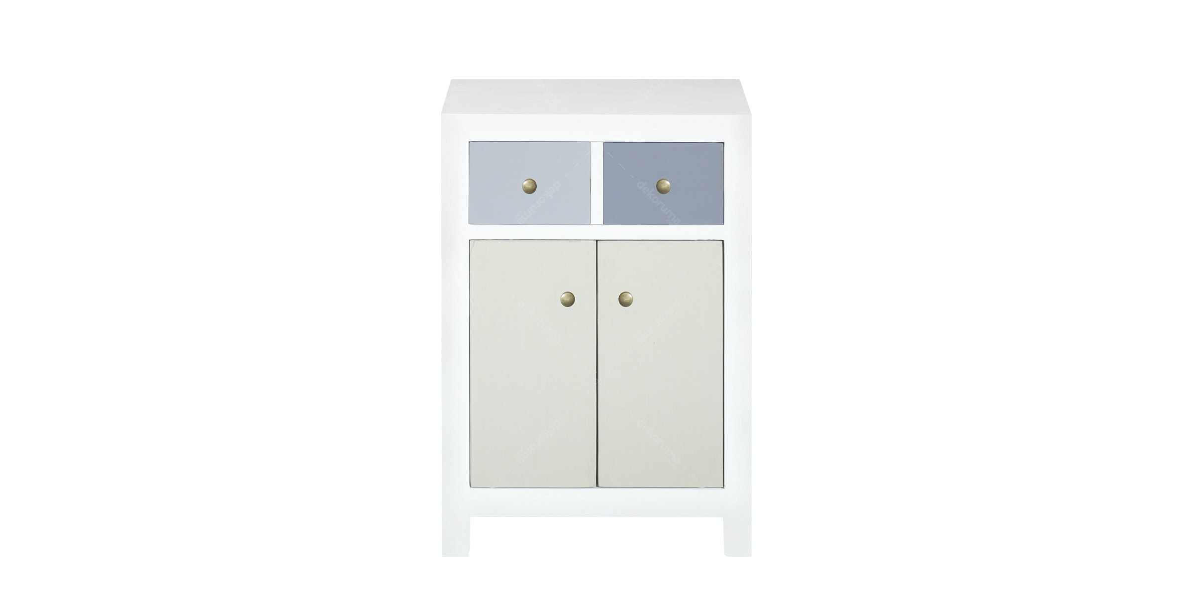 Alegre Night Table 1 Drawer 2 Door Mix White