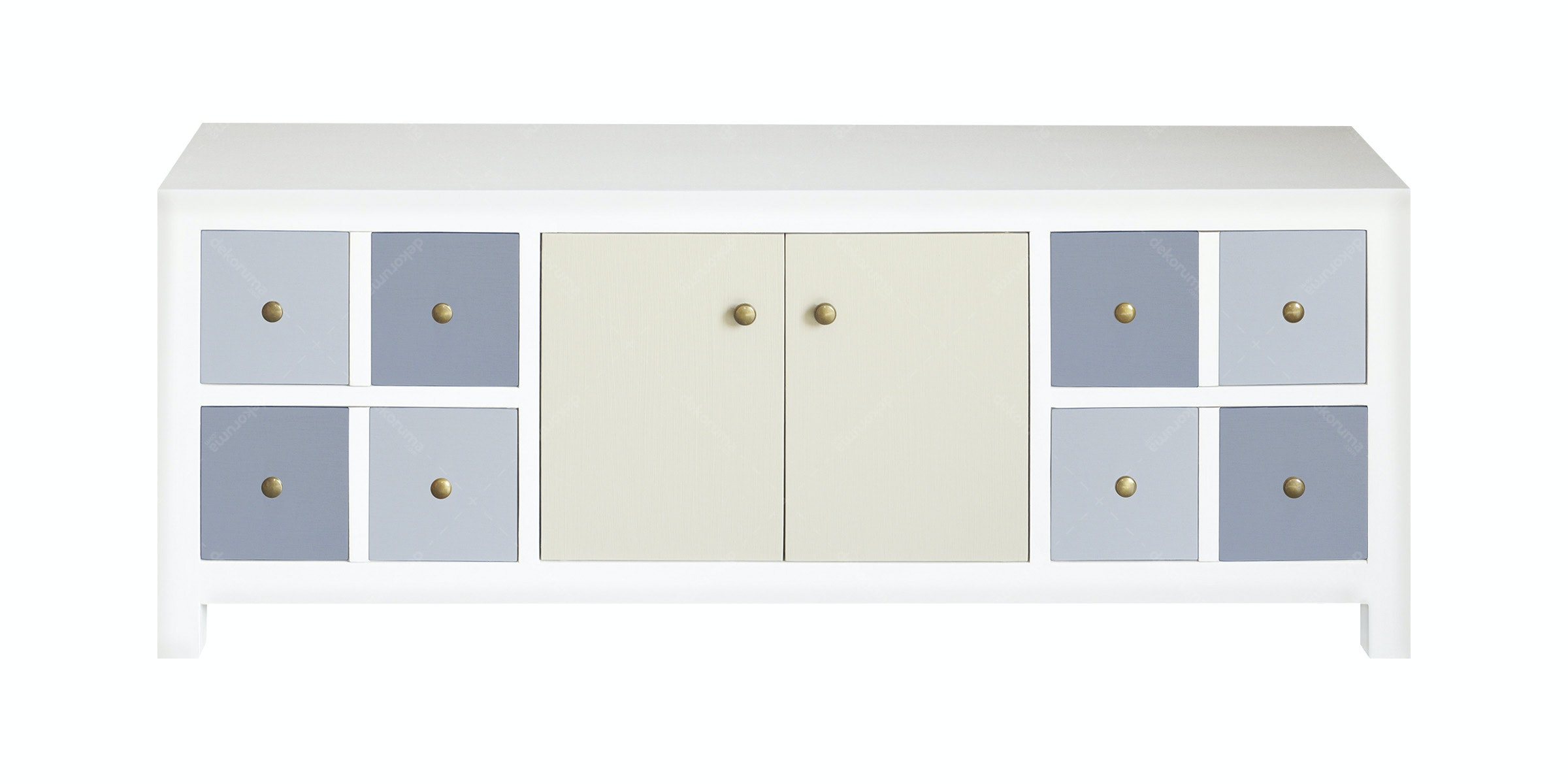 Alegre Sideboard 4 Drawers 2 Doors Mix White