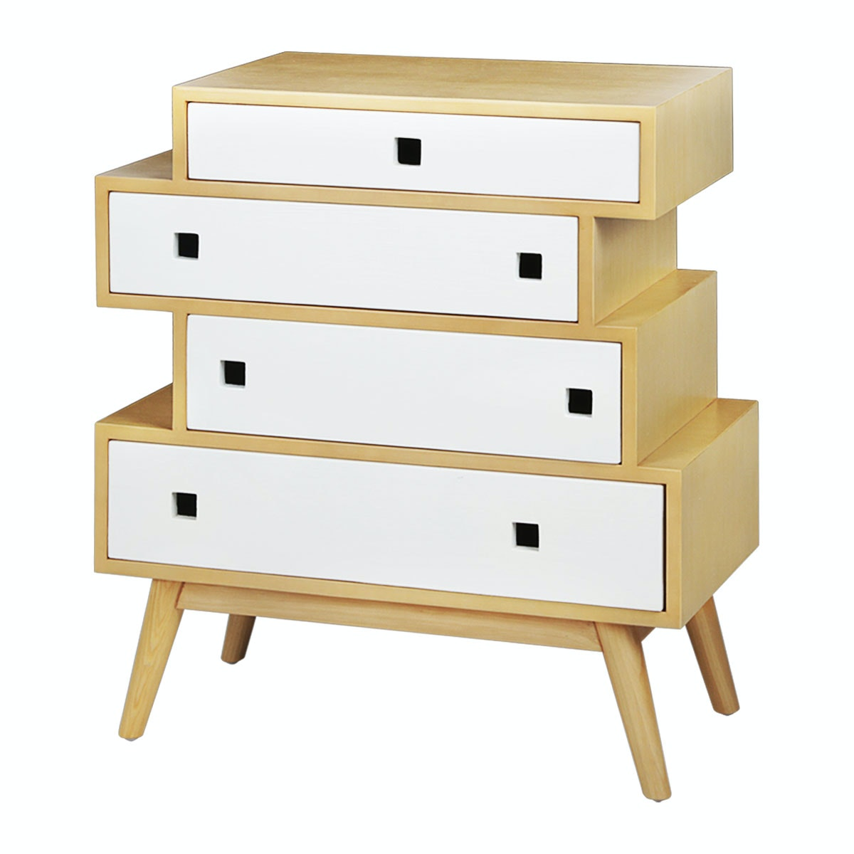 Alegre Nordic Multiple Drawer White