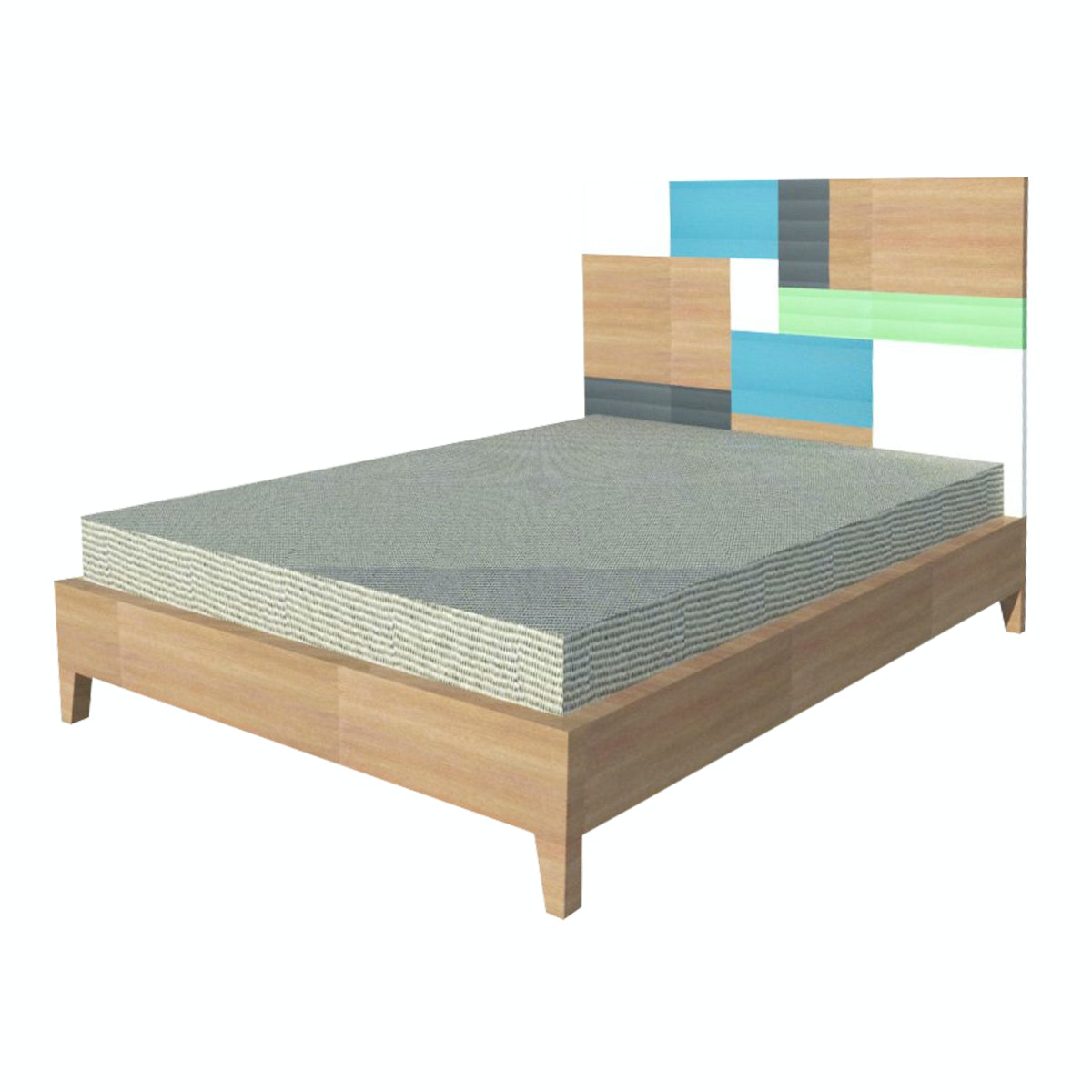 Alegre Rainbow Bed Set Queen