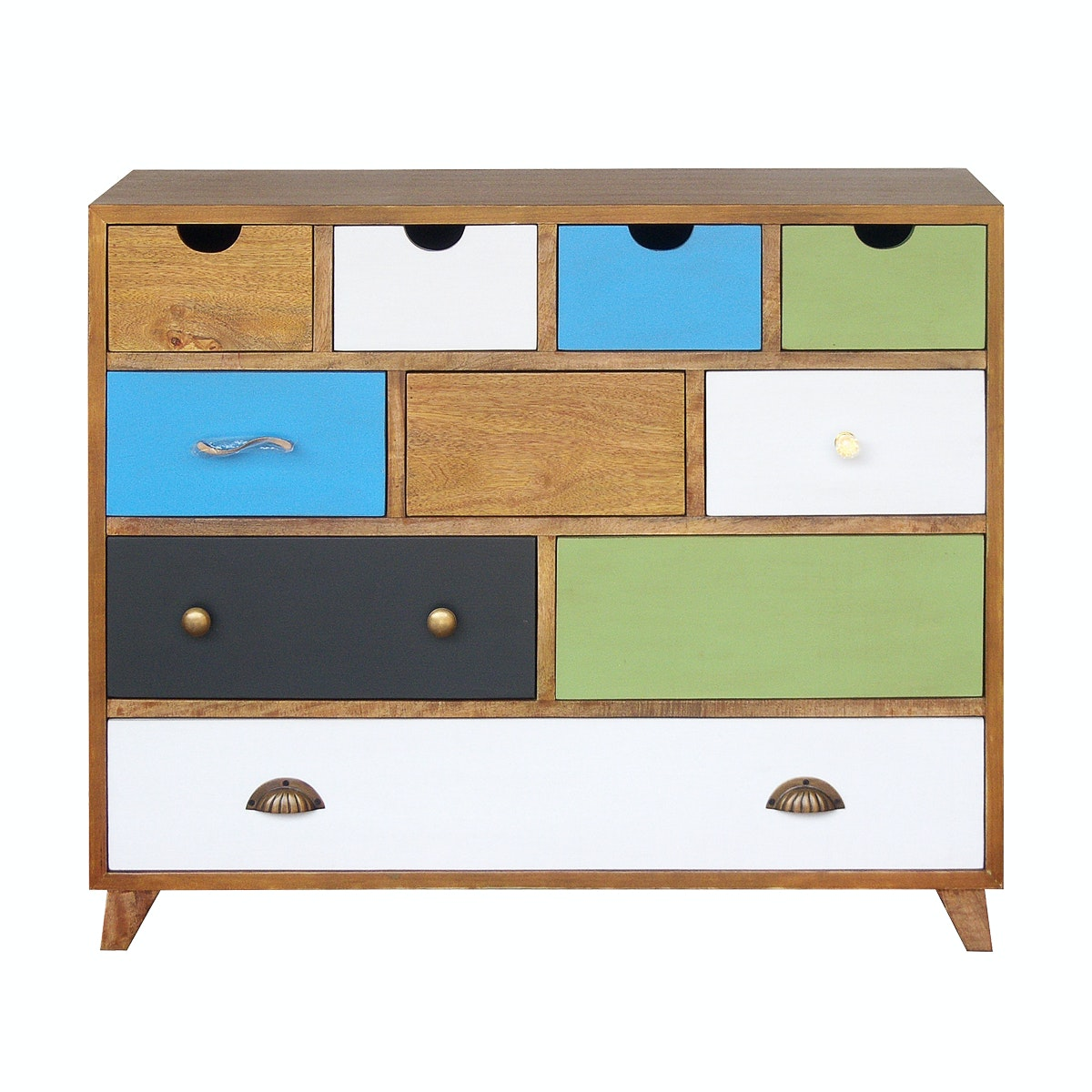Alegre Rainbow Commode 10 Drawers Cokelat