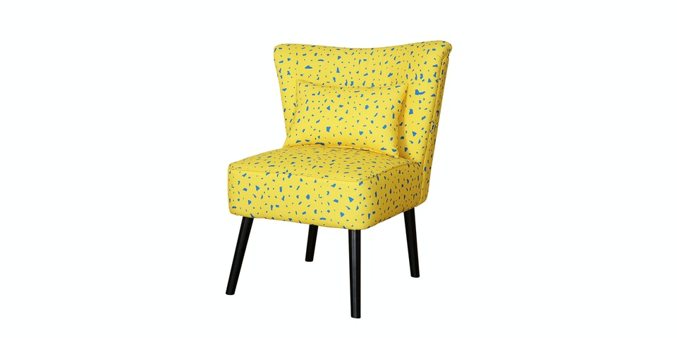 Antik Mebel Yellow Stone Cocktail Chair