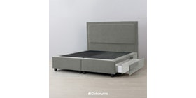 Ananta Laurent Bed Frame Single Drawer Extra King Abu Tua