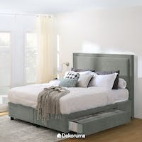Ananta Laurent Bed Frame Single Drawer Queen Abu Tua + Free Bench Abu-abu Uk. 120 cm