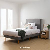 Heim Studio Touya Bed Frame Single 120 Abu-abu
